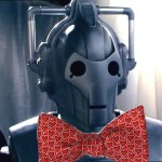 Cyberman with bowtie celebrating Cyber-Monday Sale