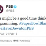 image proving PBS was a nonprofit that didn't sleep through the Great Super Bowl Blackout